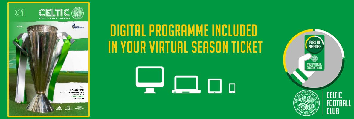 Digital programmes included in your virtual season ticket