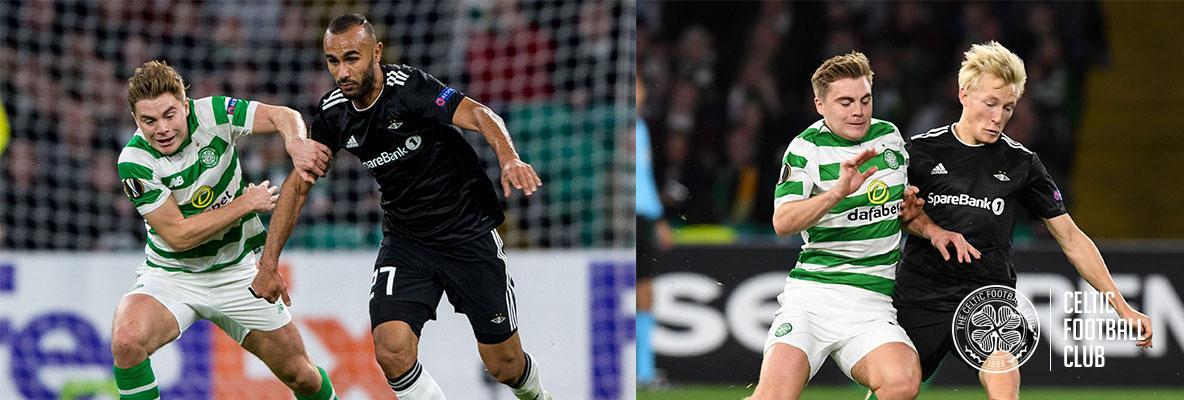 James Forrest hails attack and defence against Rosenborg