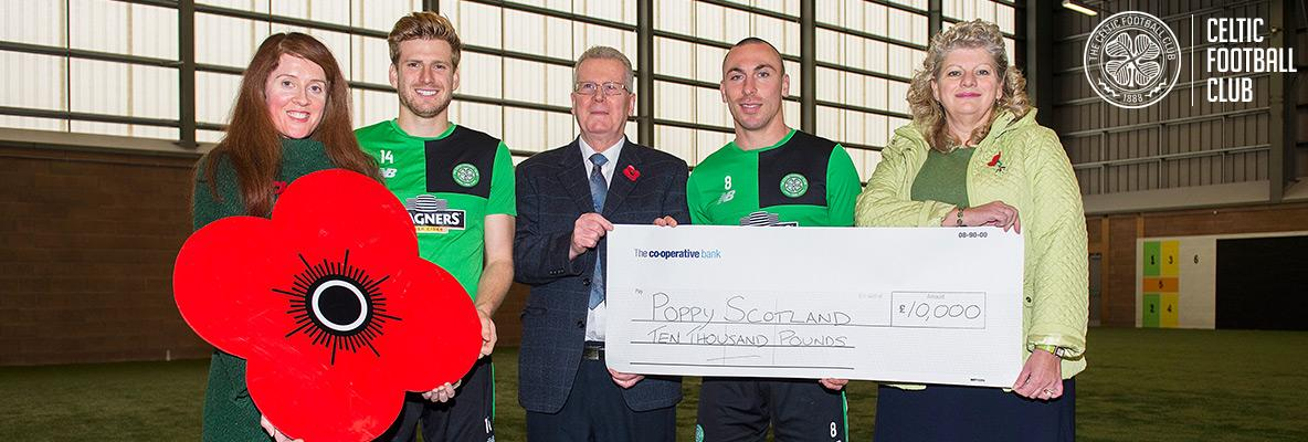 Celtic continues support of Poppyscotland with £10,000 donation