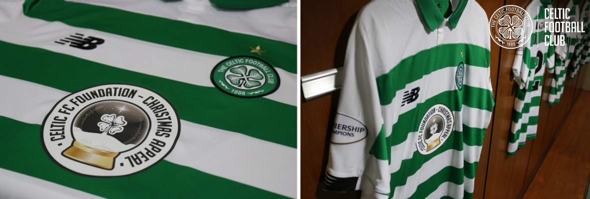 Foundation Christmas Appeal logo on shirts for Sunday's match