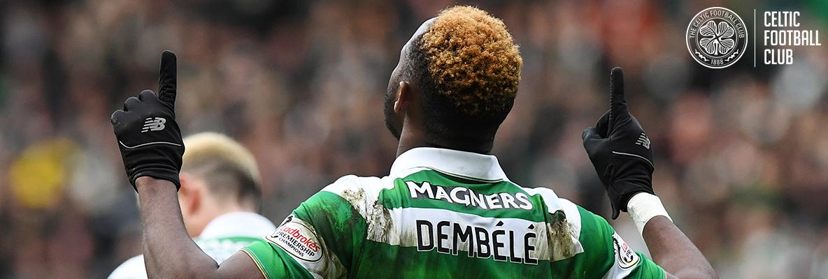 Magical Moussa downs Accies as Celtic march on