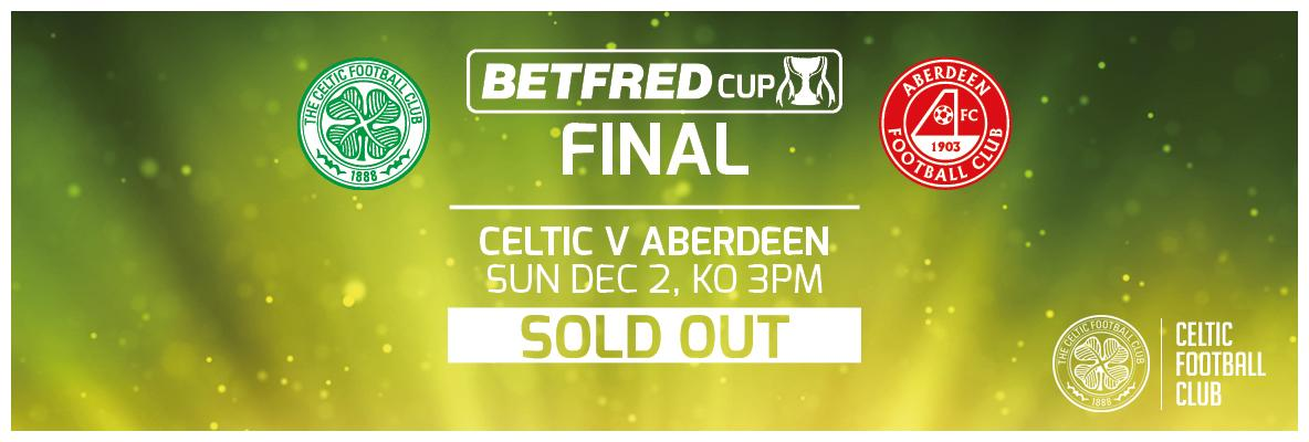Betfred League Cup final standard tickets sold out - thank you for your support