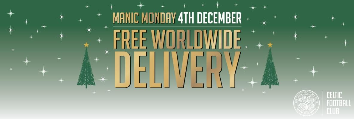 Manic Monday: free worldwide delivery from the Online Superstore
