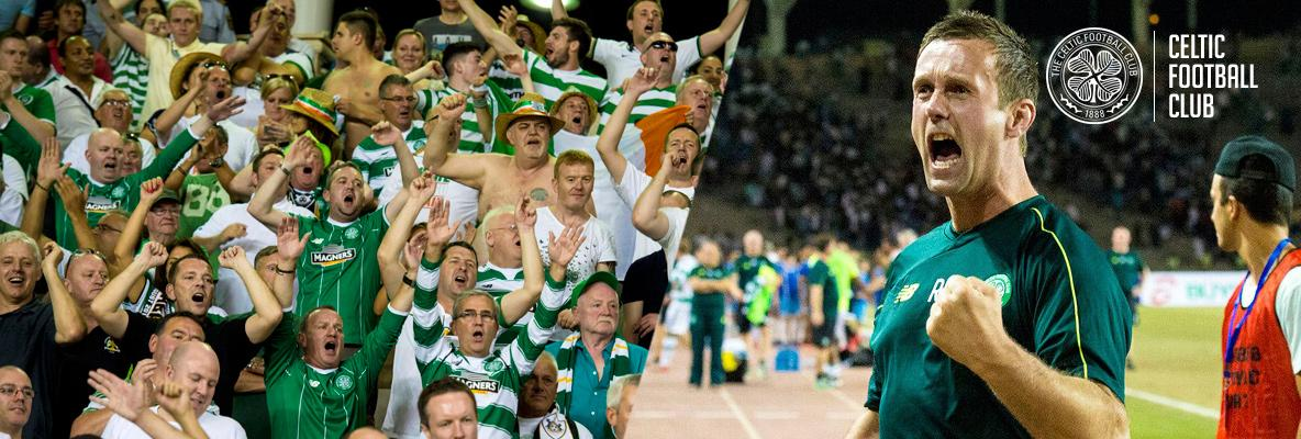 Ronny Hail, Hails the fantastic Celtic support in Baku
