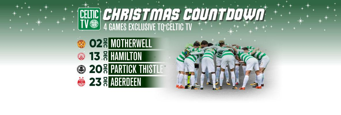 The countdown to Christmas starts this weekend on Celtic TV