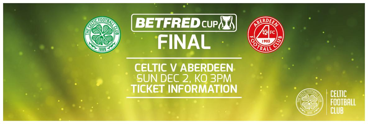Tickets on sale now – Celtic v Aberdeen League Cup final