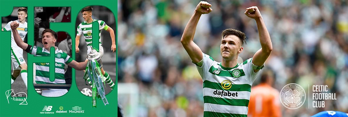 Kieran Tierney set to make 150th appearance for Celtic