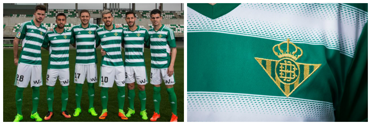 Real Betis celebrate Celtic connection with green and white hoops
