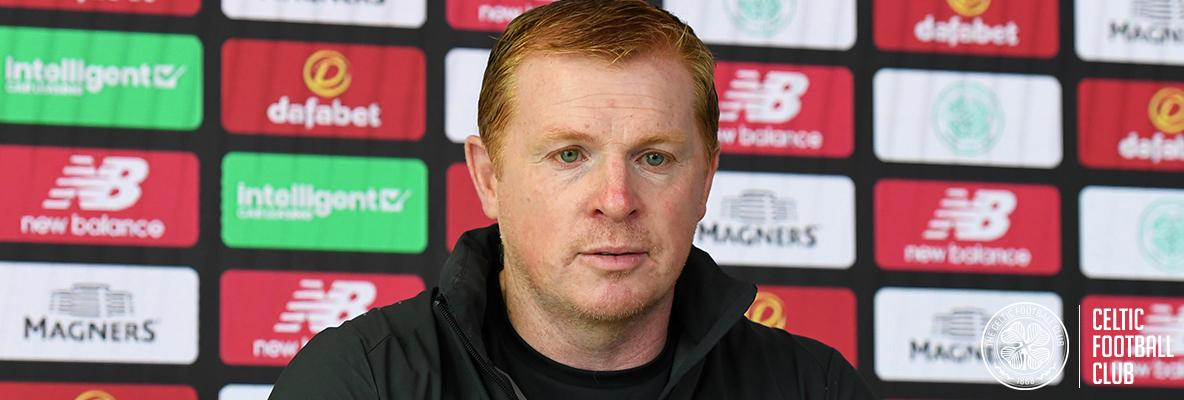 Neil Lennon: We have a nice lead but the tie isn't over yet