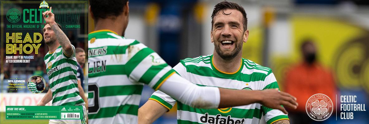 Debut scorer Shane Duffy in this week's Celtic View