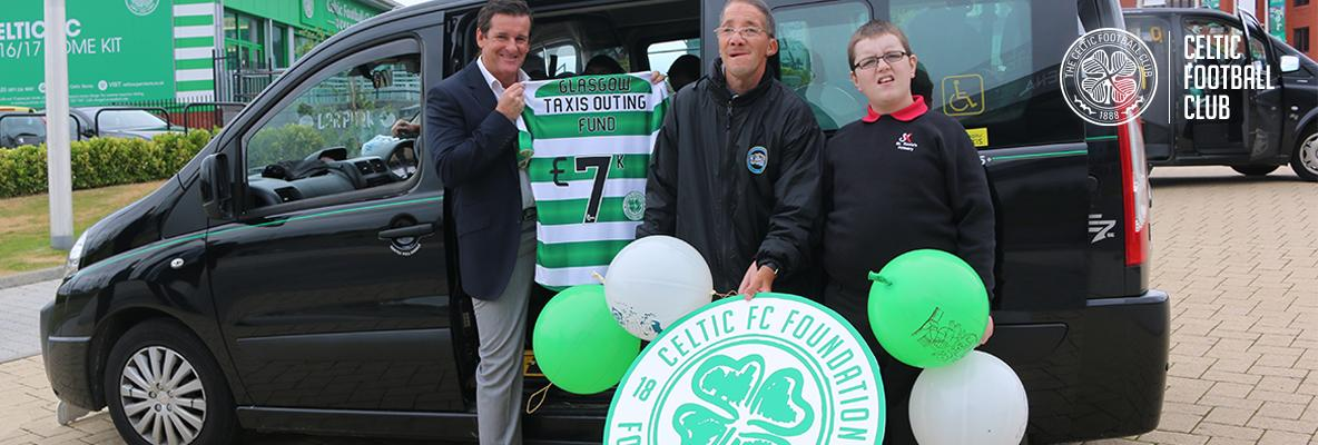 Celtic FC Foundation donate £7,000 to Glasgow Taxi Outing