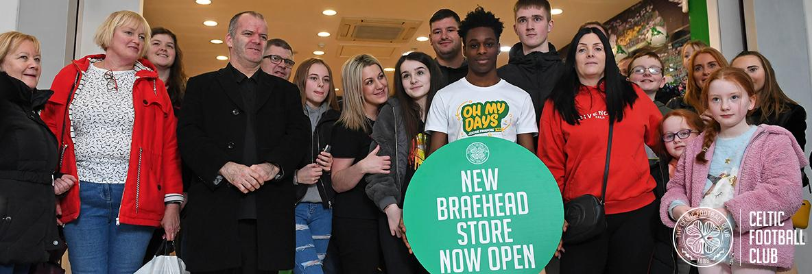 Jeremie's t-shirt delight as he opens new Celtic store at Braehead