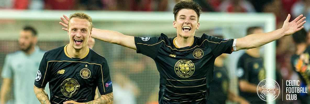 Kieran Tierney's delight as Champions League dream comes true