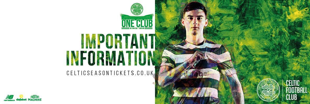2018/19 Season Ticket information for supporters