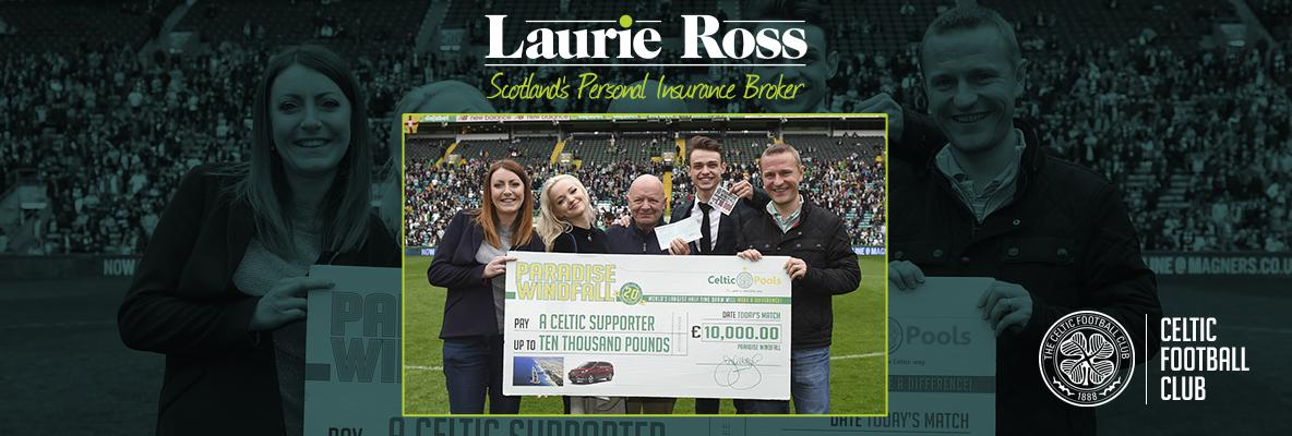 Laurie Ross new sponsor of Celtic Pools' Paradise Windfall