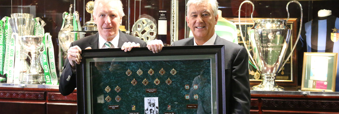 Celtic icon Billy McNeill donates medal collection to the Club