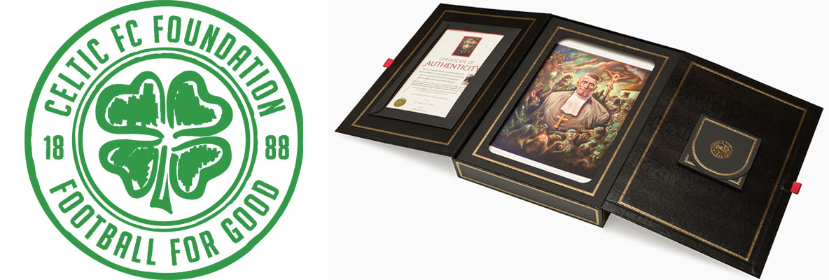 Peter Howson-signed prints of Brother Walfrid art in Celtic stores
