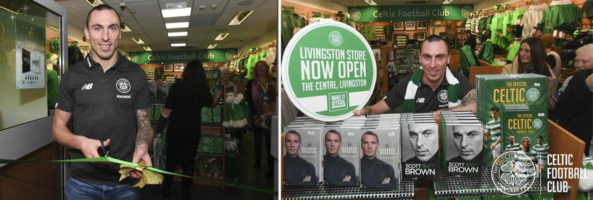 Scott Brown opens Celtic's new store in Livingston