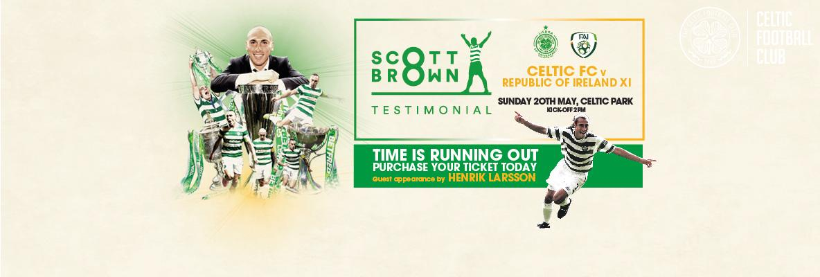 Good causes to benefit from Scott Brown Testimonial Match