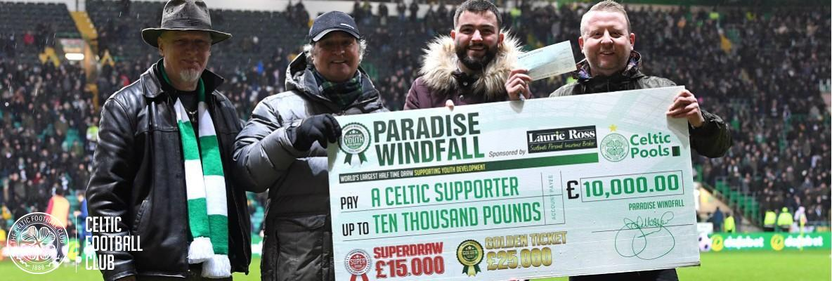 Unclaimed £10,000 Paradise Windfall from Saturday's game