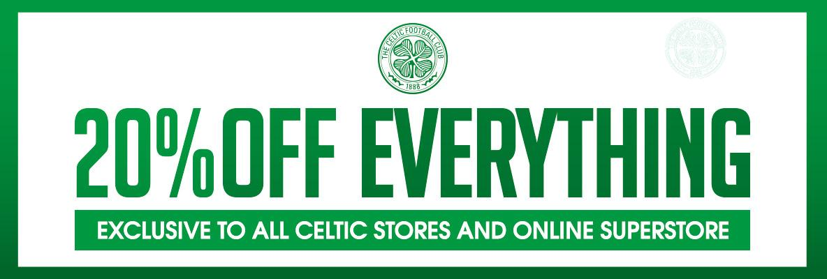 20% sale at all club stores from Thursday