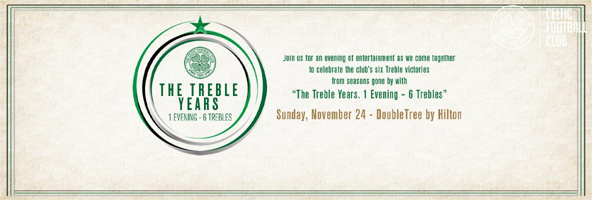Join us as we celebrate 'The Treble Years. 1 evening - 6 trebles'