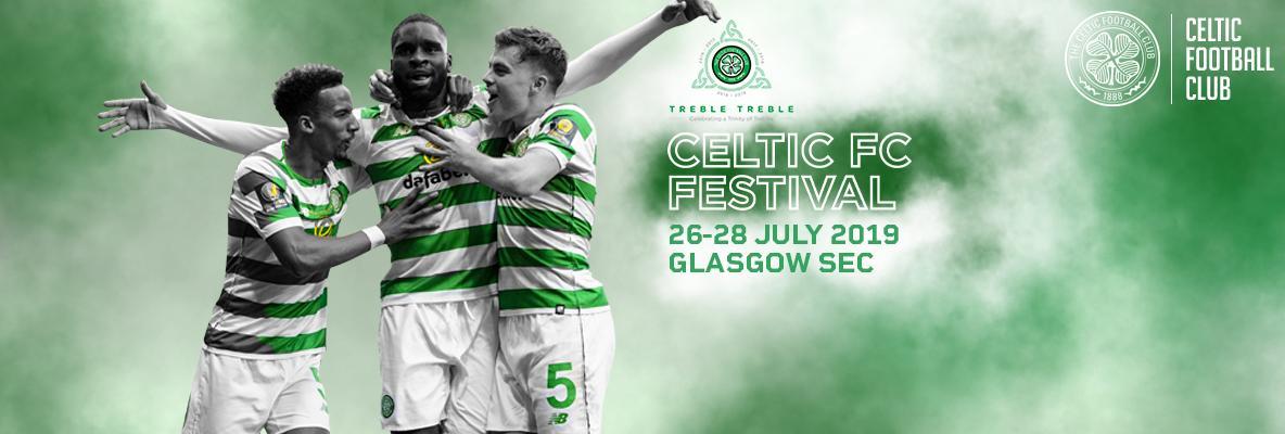 See the #TrebleTreble trophies at Celtic FC Festival