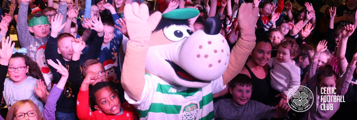 Primary pupils enjoy a Celtic FC Foundation party in Paradise