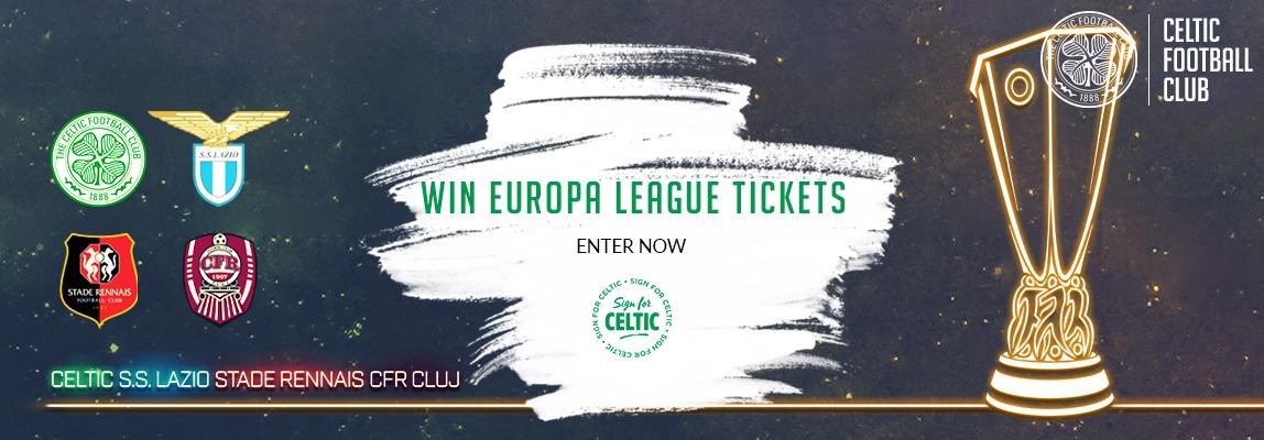 Win Europa League three-match packages with Sign for Celtic