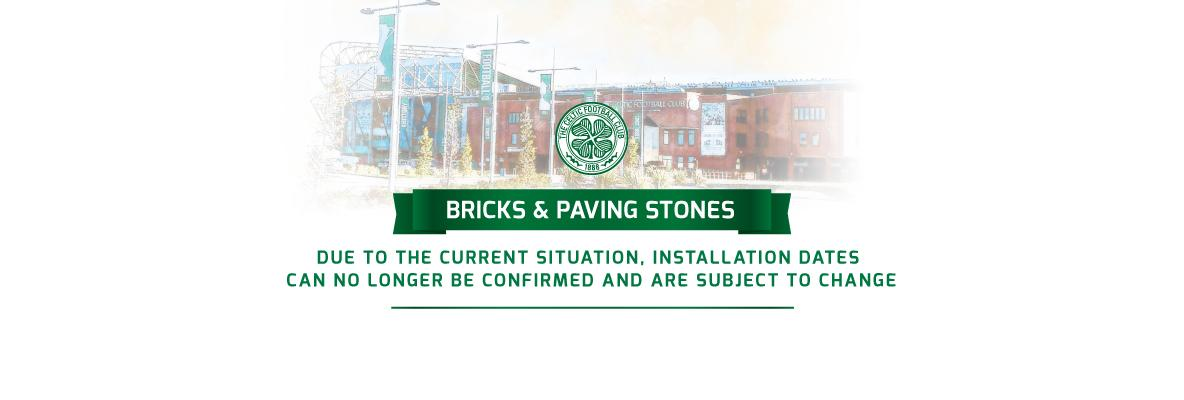 Paving Stone installation temporarily postponed