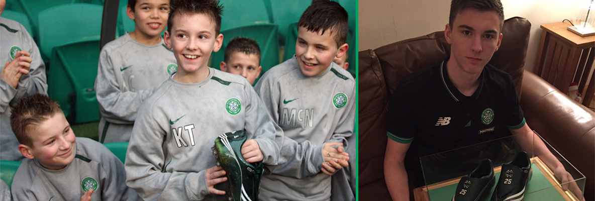 Kieran was delighted to be Naka's Boot Bhoy