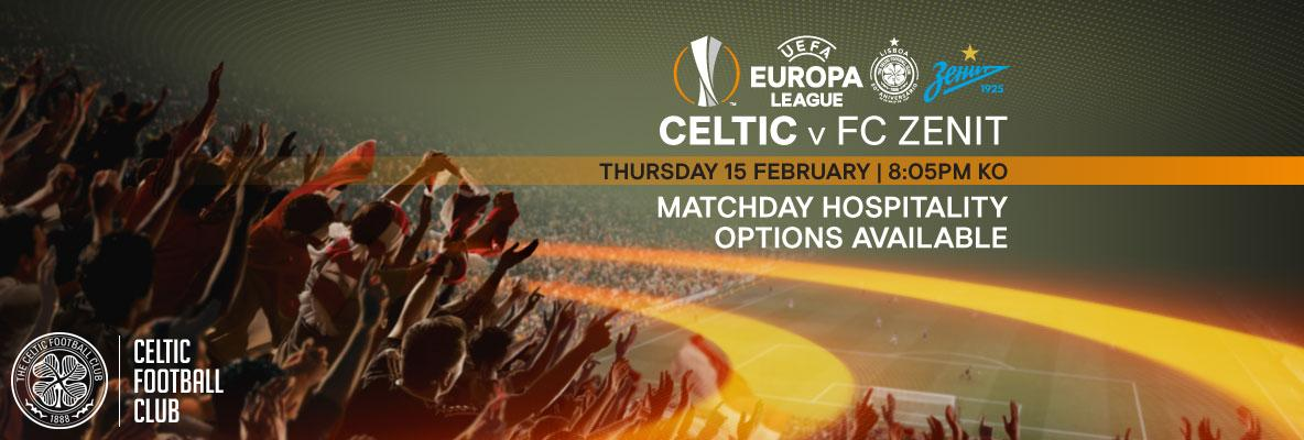 Book UEFA Europa League matchday hospitality at Celtic Park
