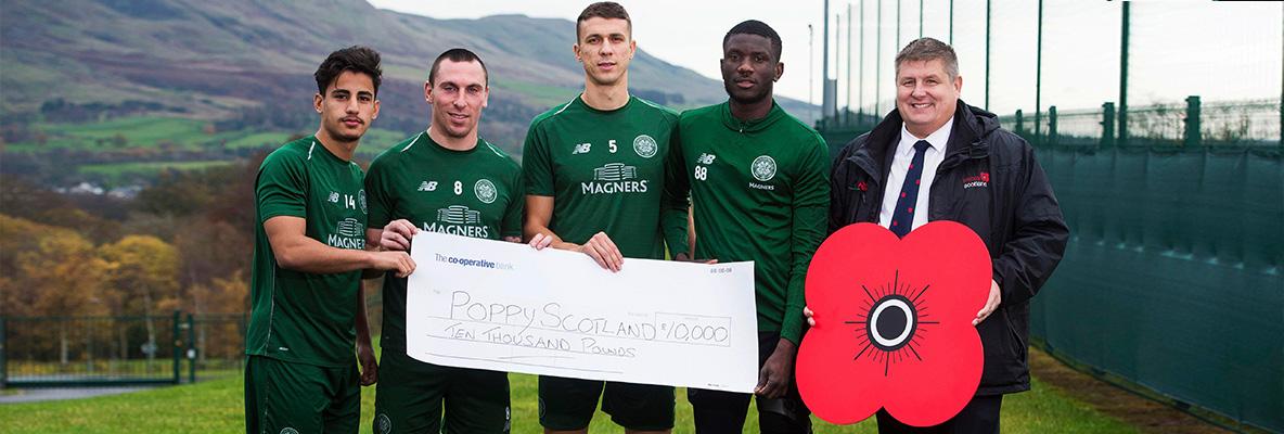 Celtic FC Foundation donates £10,000 to PoppyScotland