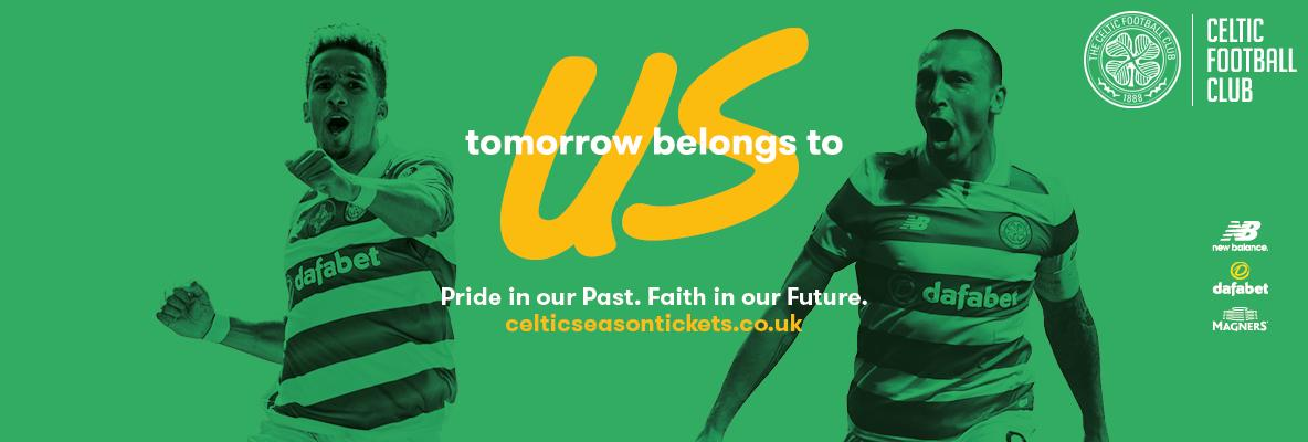 Celebrate Glasgow's green and white, renewing your seat for 2017/18