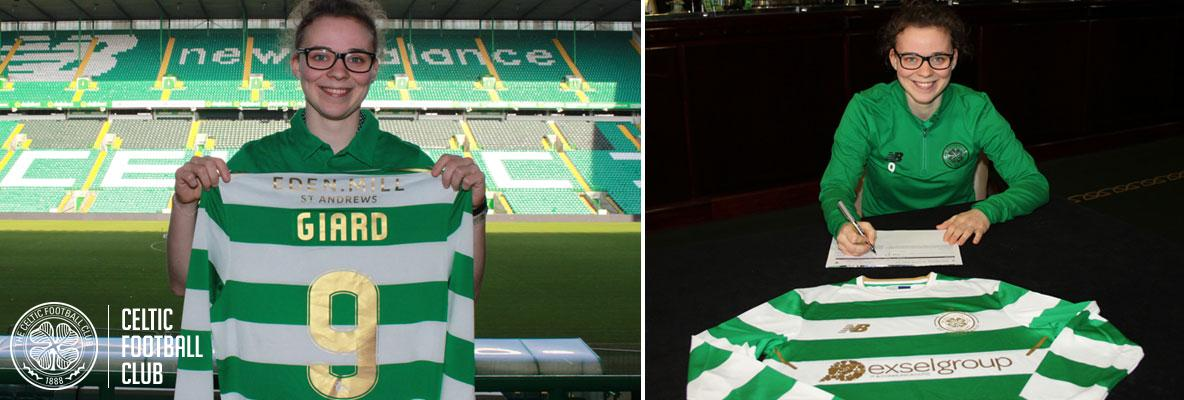 Celtic Women's team sign German striker, Josephine Giard