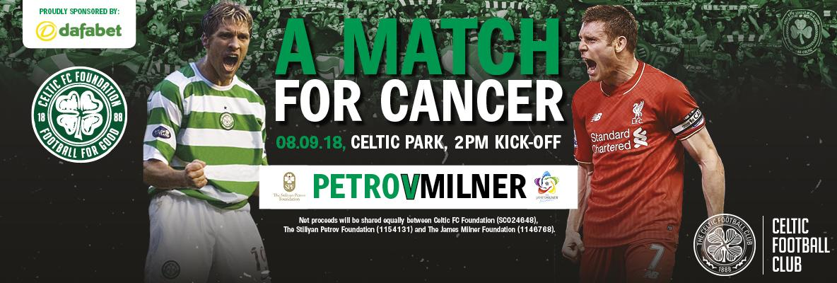 'A Match For Cancer' charity game  tickets now on general sale