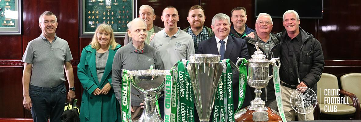 Touching history as Visually-Impaired supporters lift the Treble