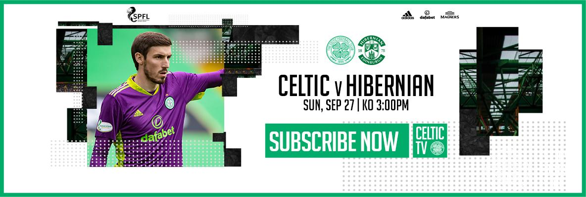 Celtic v Hibernian - keep up with the champions on Celtic TV