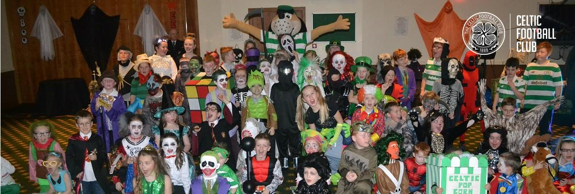 Young Hoops had a Hoopy Hallowe'en at Celtic Park
