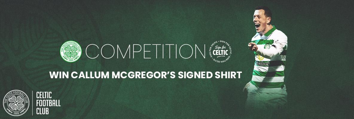 Last chance to win Callum McGregor's signed shirt!
