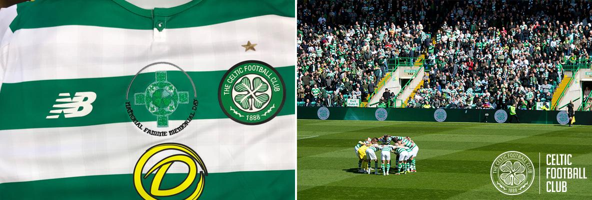 Celtic to wear National Famine Memorial day logo