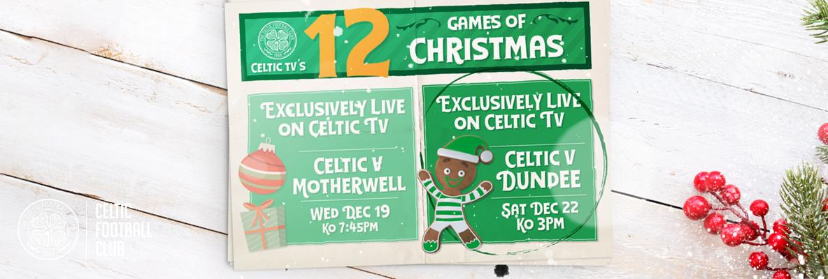 Join us for another exclusive on Celtic TV as Hoops face Dundee