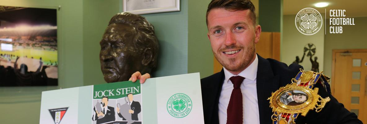 Boxing champion Scotty Cardle lends his support to Jock Stein charity match