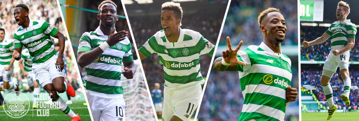 Hat-trick delight for Dembele in derby rout for five-star Celts