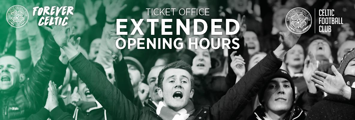 Ticket Office opening hours for renewals deadline extension