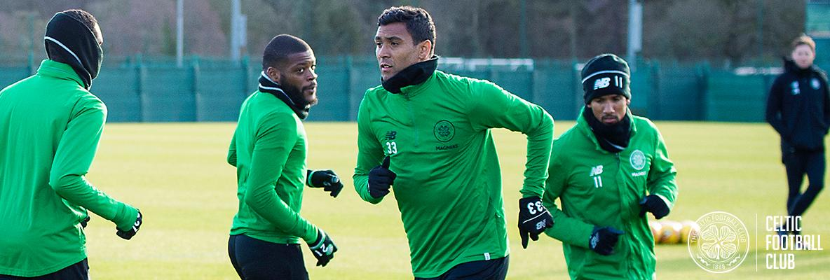 Marvin Compper makes his debut for Celtic against Morton