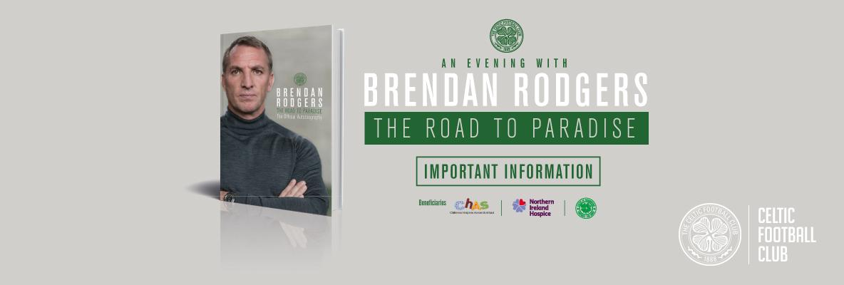 Arrive Early for 'An Evening with Brendan Rodgers' in Glasgow