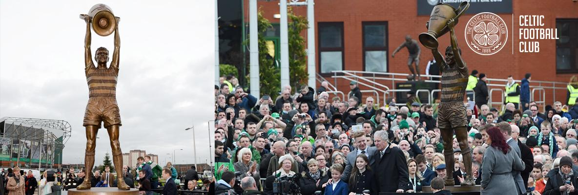 Celtic unveil statue in honour of legend Billy McNeill