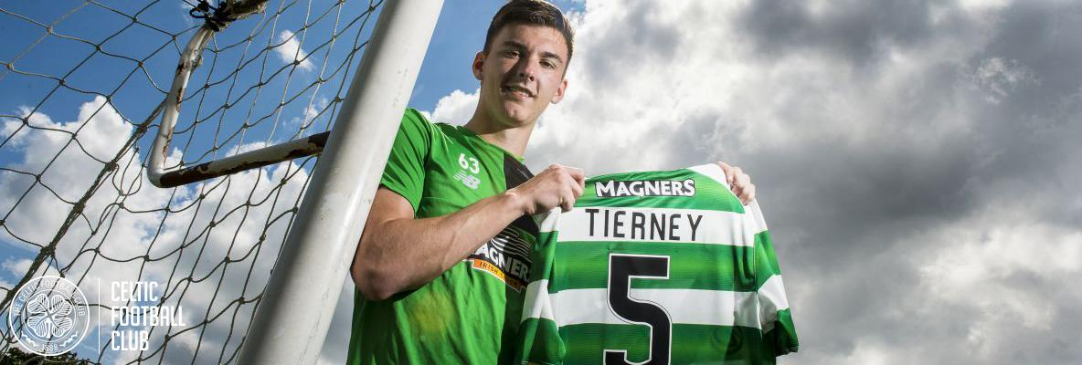 Kieran Tierney in Paradise with new five-year Celtic deal