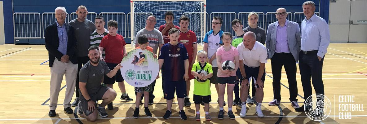 Celtic FC Foundation launch Ability Counts Dublin project